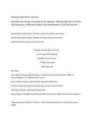 Pre-9/11 Information/Intelligence Sharing Among Delaware Law ...