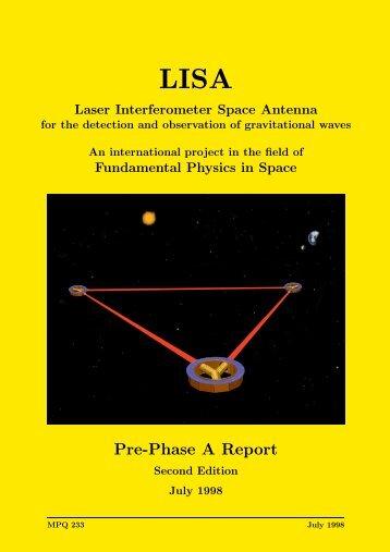 Pre-Phase A Report - Lisa - Nasa