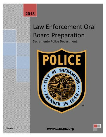 Law Enforcement Oral Board Preparation - Sacramento Police ...