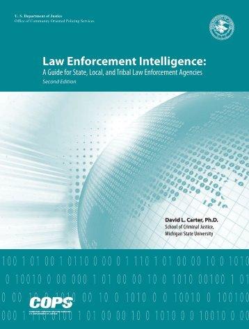 Law Enforcement Intelligence: - OJP Information Technology ...