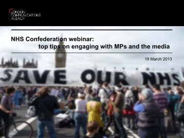top tips on engaging with MPs and the media - NHS Confederation