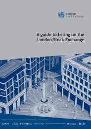 A guide to listing on the London Stock Exchange