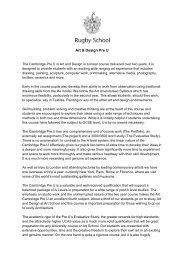 Art & Design Pre U | PDF (106kb) - Rugby School