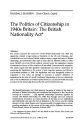 The Politics of Citizenship in 1940s Britain: The British Nationality Act*