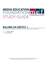 KUS 3 Study Guide - Media Education Foundation