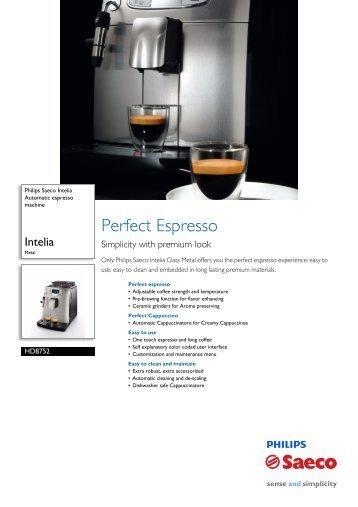 Manual prezentare Expresor Philips Saeco ... - Espresso Cafe