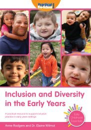 Inclusion and Diversity in the Early Years - Practical Pre-School Books