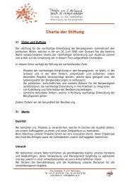 Charta der Stiftung