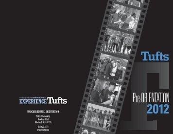 Tufts Pre-Orientation Programs 2012 - Tufts FOCUS