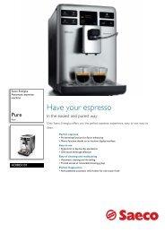 HD8851/01 Saeco Automatic espresso machine - Philips