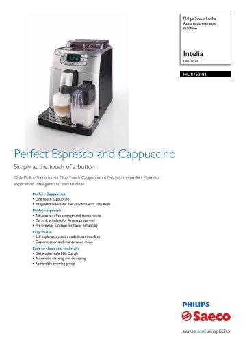 Perfect Espresso and Cappuccino