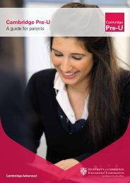 Cambridge Pre-U - Cambridge International Examinations