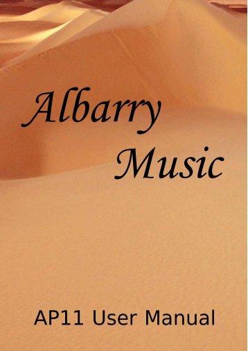 AP11 User Manual - Albarry Music