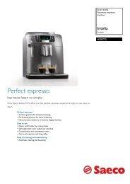 HD8770/02 Saeco Automatic espresso machine - Philips