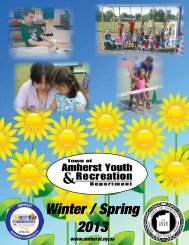 Recreation Brochure - Town of Amherst