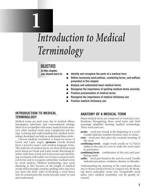 Introduction to Medical Terminology - Delmar Learning - OPG