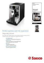 HD8852/09 Saeco Automatic espresso machine - Philips