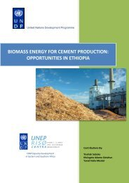 biomass energy for cement production - United Nations ...