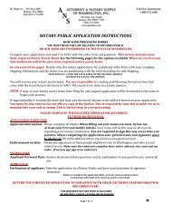 notary public application instructions - Attorney Notary Supply of ...