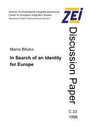 Discussion Paper - Zentrum für Europäische Integrationsforschung ...