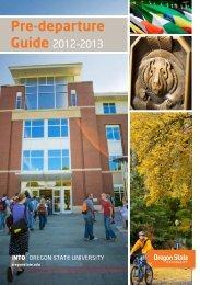 Pre-departure - Oregon State University
