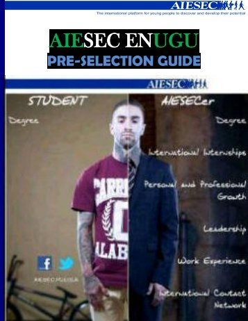 Pre- selection document - AIESEC Nigeria