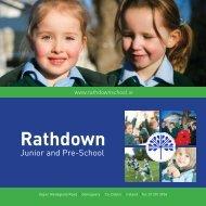 Rathdown Junior & Pre-School Brochure 2012 - Rathdown School