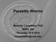 Parasitic Worms - UCLA