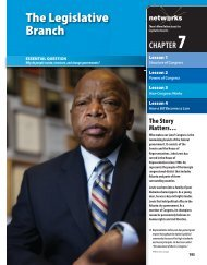 The Legislative Branch - McGraw-Hill Networks