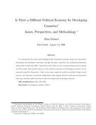 Is There a Different Political Economy for Developing Countries ...
