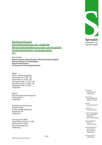Energetische Sanierung Preußenallee - Spreeplan