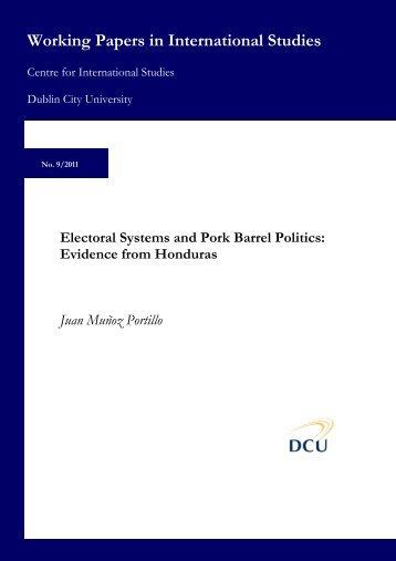Electoral Systems and Pork Barrel Politics - DORAS - Dublin City ...