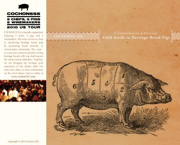Field Guide to Heritage Breed Pigs - Cochon 555