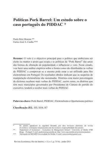 Políticas Pork Barrel: Um estudo sobre o caso português ... - PROPPi