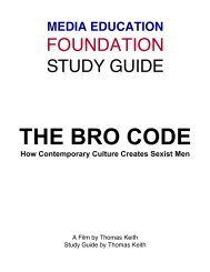 The Bro Code - Study Guide - Media Education Foundation