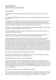 NACKTSCHNECKEN Zwei Interviews von Peter Krobath Lust am ...