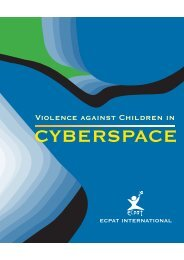 Violence against Children in Cyberspace - ECPAT International