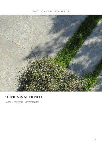 Terrassen-, Polygonal-, Unmassplatten - Naturstein - Center
