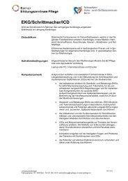 EKG/Schrittmacher/ICD - Berner Bildungszentrum Pflege