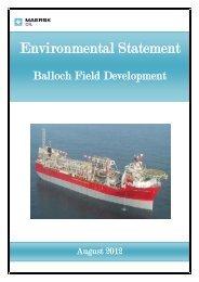 Environmental Statement - Maersk Oil