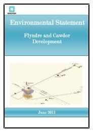 Environmental statement - Flyndre and Cawdor - Maersk Oil