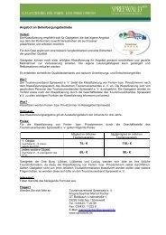 Klassifizierungen für Ferienzimmer - Spreewald