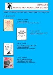 Cartoonlobby Programm 2011 - Spreewald