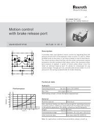 Motion control with brake release port - Bosch Rexroth