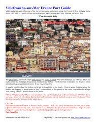 Villefranche-sur-Mer France Port Guide - Toms Port Guides