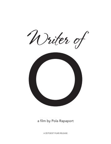 Oa film by Pola Rapaport - Zeitgeist Films.