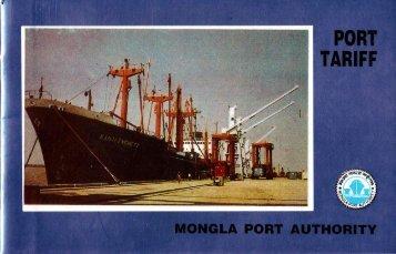 Port Tariff - Mongla Port