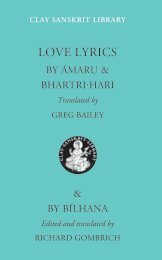 Love Lyrics - Clay Sanskrit Library