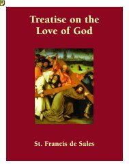 Treatise on the Love of God - Catholic Spiritual Direction