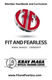 Download the Krav Maga Training Curriculum - Fit and
